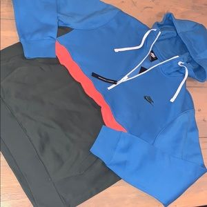 NWT Nike half zip hooded sweatshirt